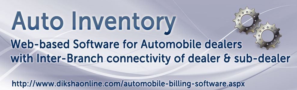 Online Software for Automobiles dealers with inter-branch connectivity of dealer & sub-dealer.